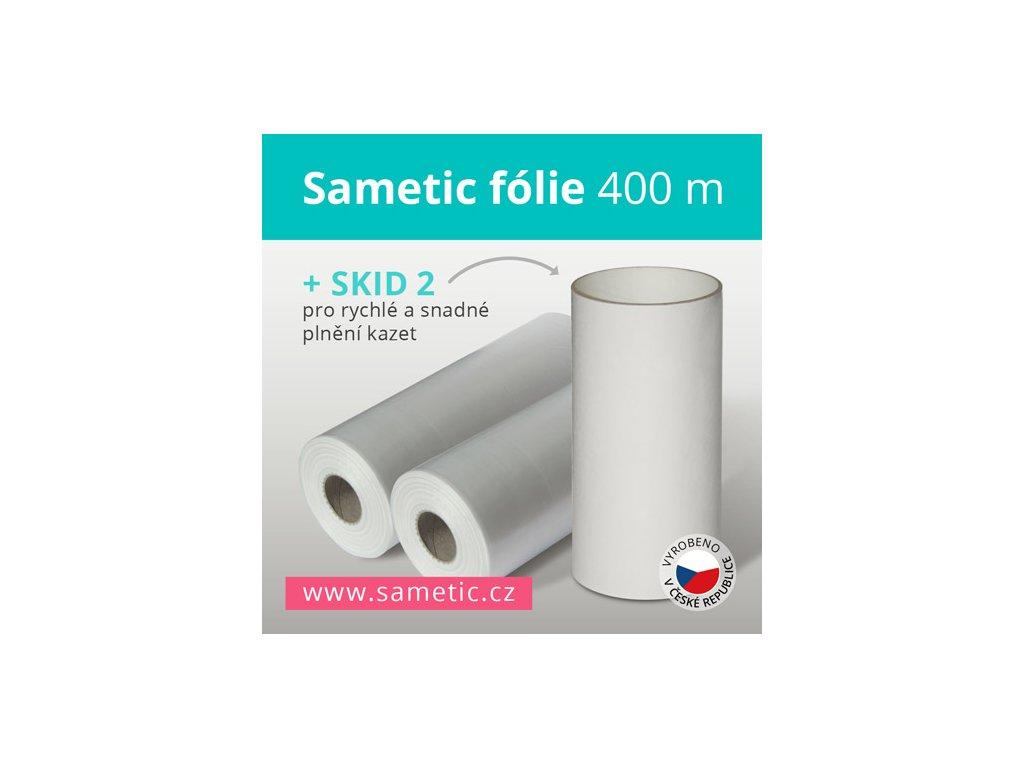 Sametic 400 metrů fólie do kazet košů Sangenic, Angelcare a dalších košů na pleny