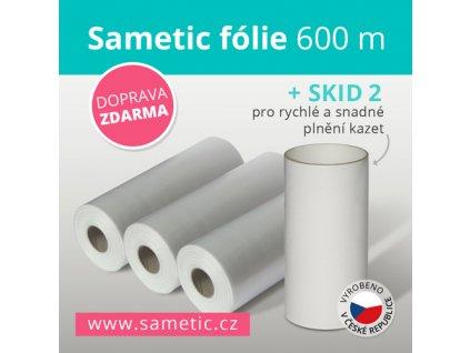 Sametic 600 metrů fólie do kazet košů Sangenic, Angelcare a dalších košů na pleny