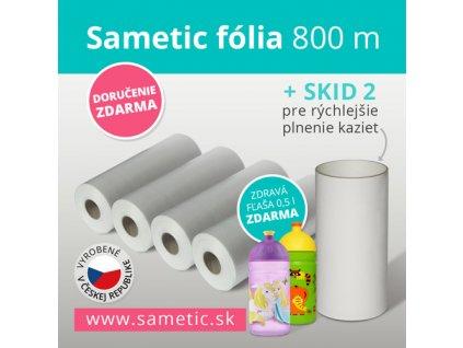 Sametic 800 metrov fólie do kaziet košov Sangenic, Angelcare a ďalších košov na plienky