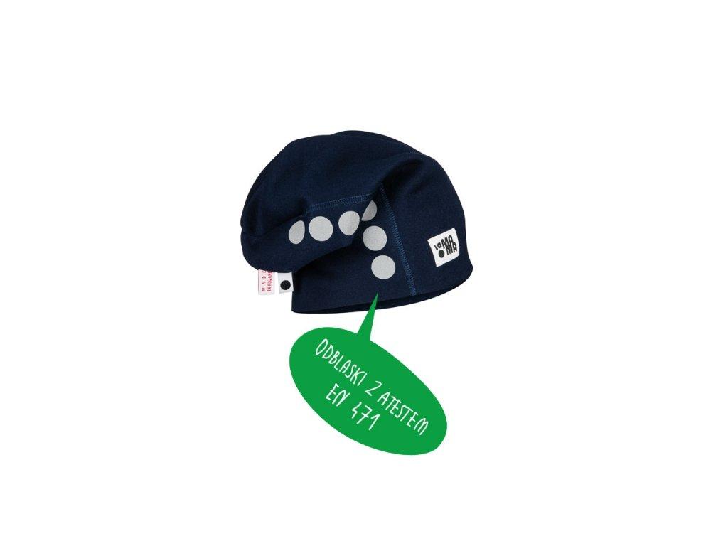 Bavlněná čepice s reflexním potiskem - granátová - Samíkov 4715135ee1