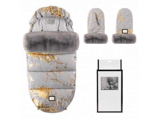 set grey golden