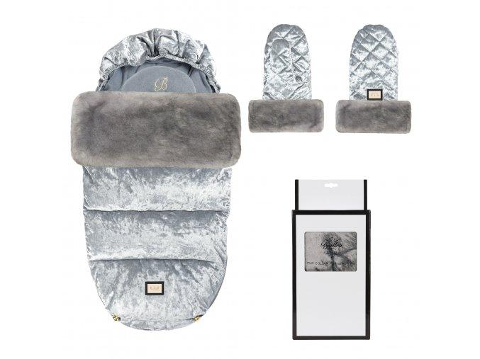 set grey velvet