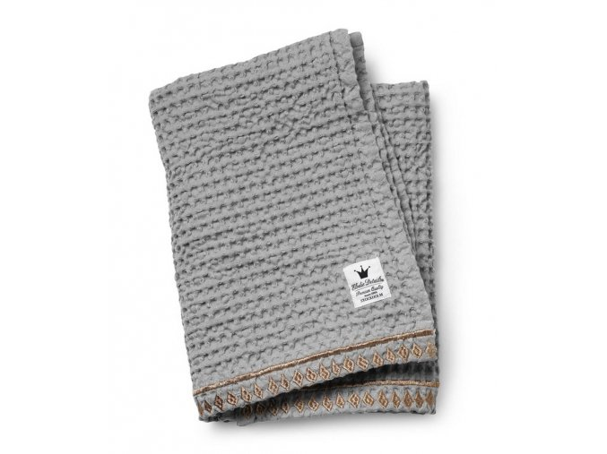 Organic Waffle Blanket Gilded Grey