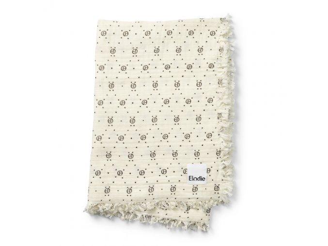 soft cotton blanket monogram print elodie details 70360109548NA 1 1000px