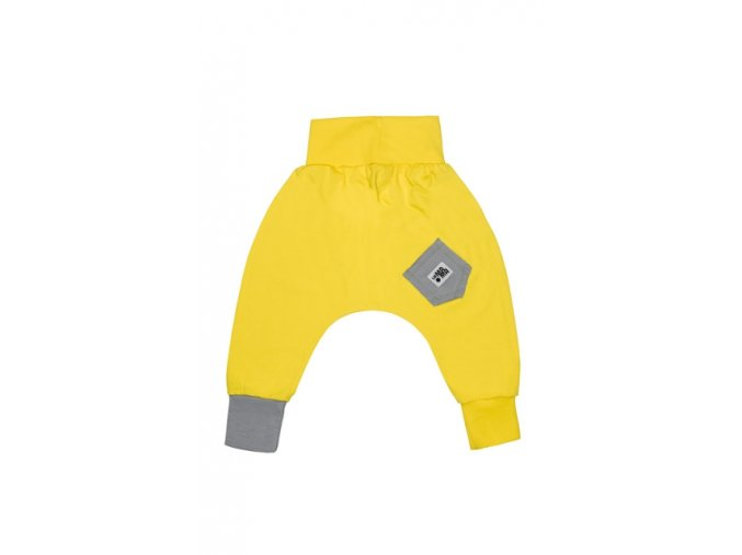 Kalhoty bavlněné (jaro/léto) - citronové