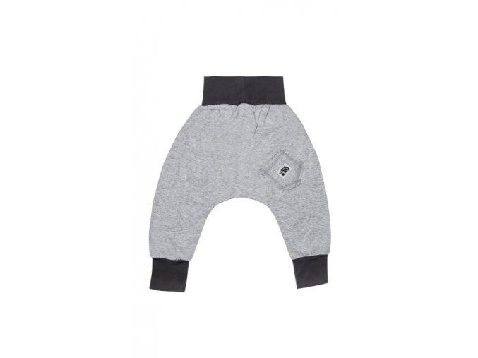 Kalhoty bavlněné (jaro/léto) - světle šedá melírovaná