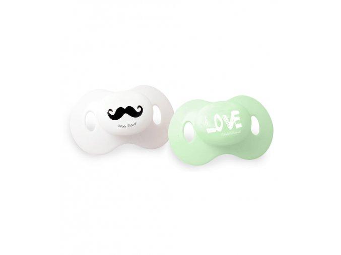 Set dudlíků Elodie Details - Mustache Love