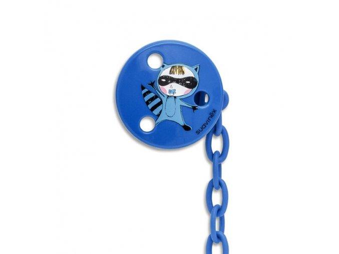 Klip na šidítko kulatý +0m - lupič modrý