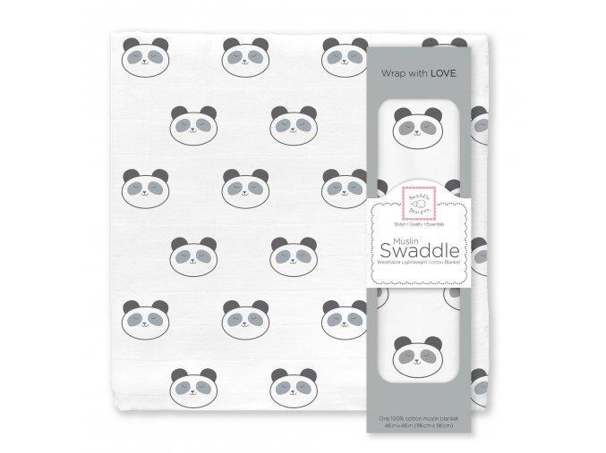 Mušelínová zavinovací plenka velká - Panda