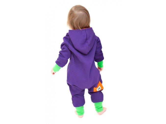 Bavlněný overal - fialový