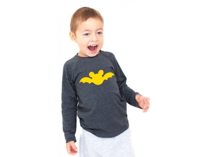 Bavlněné triko s dlouhým rukávem - batman žlutý LIMITOVANÉ