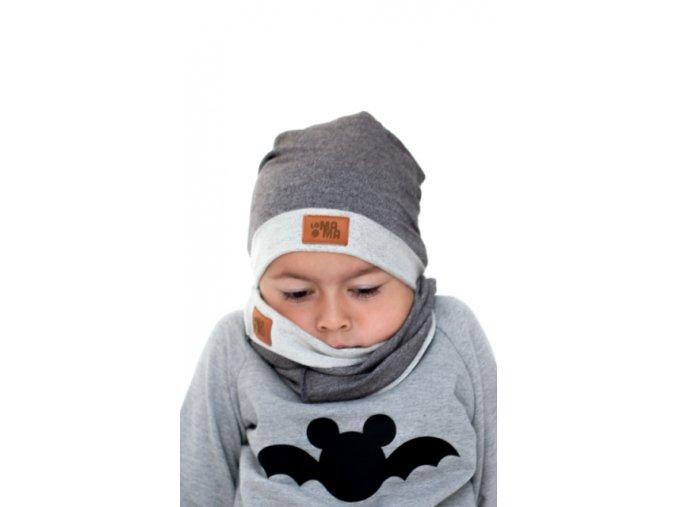 Bavlněná čepice - tmavě šedá - limitovaná