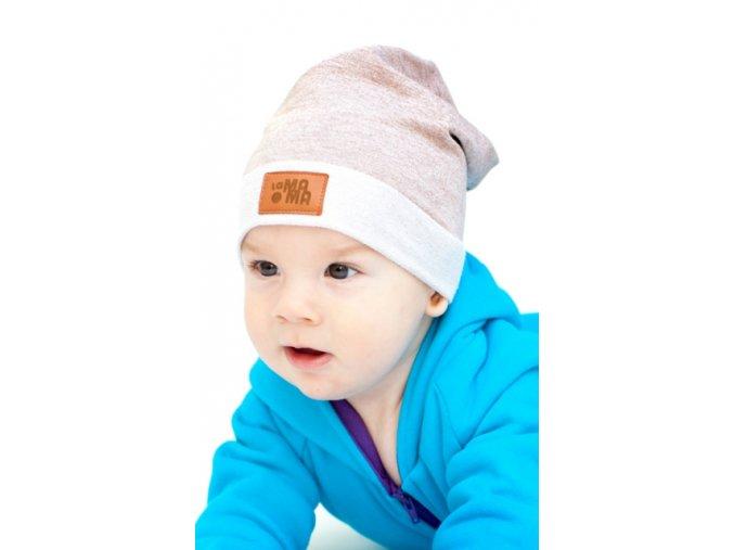 Bavlněná čepice - pudrová - limitovaná