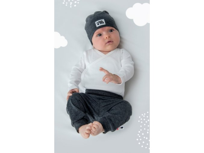 Kalhoty newborn - grafitové