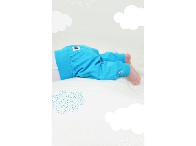 Kalhoty newborn - tyrkysové