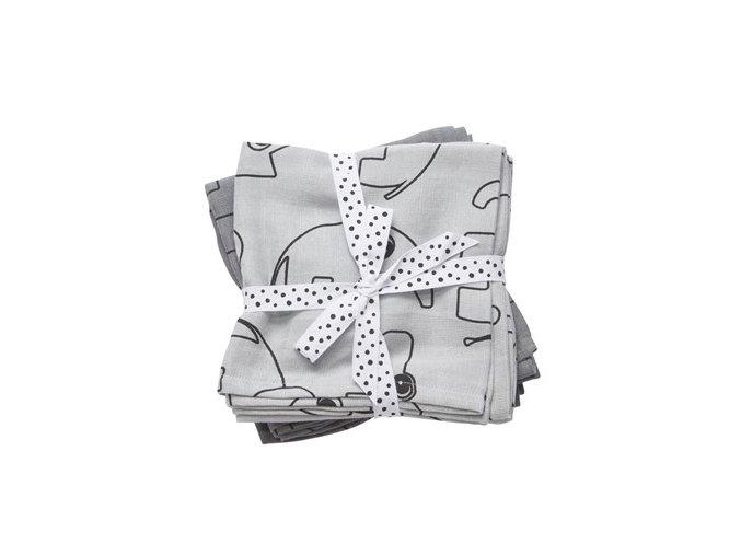 Mušelínové plenky Contour 2ks - šedé