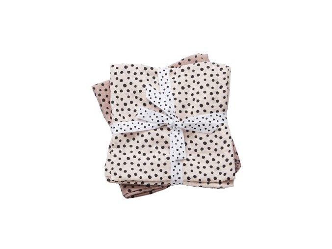 Mušelínové plenky Happy dots 2ks - růžové