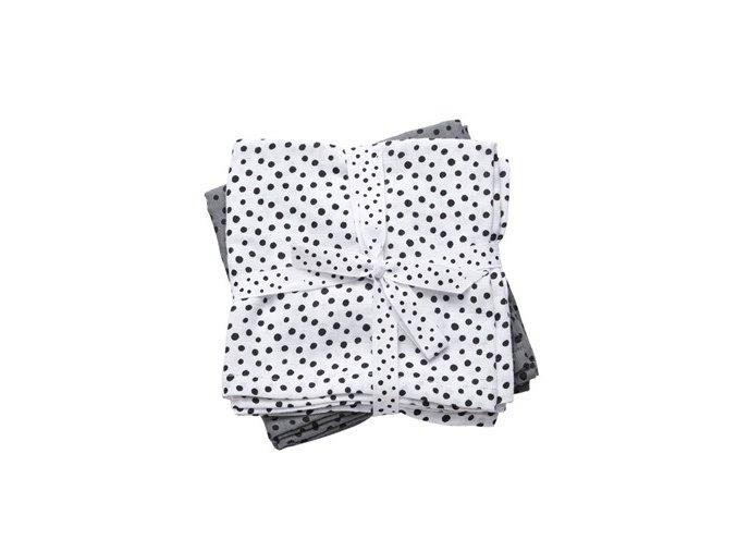 Mušelínové zavinovací plenky Happy dots 2ks - šedé