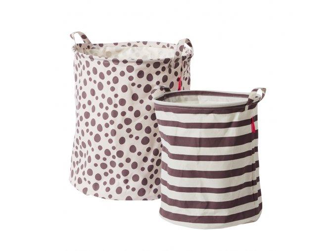 Set měkkých odkládacích košíků 2ks - růžový
