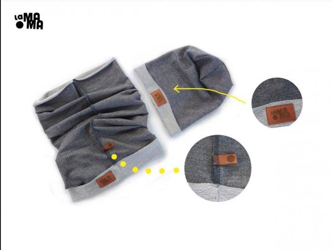Komínkový šál - tmavě šedý limitovaný