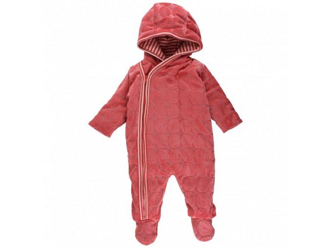 Fixoni Zateplený kojenecký overal - červený