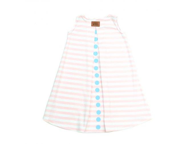 50SKA0205 a dress lato STRIPES pink 1