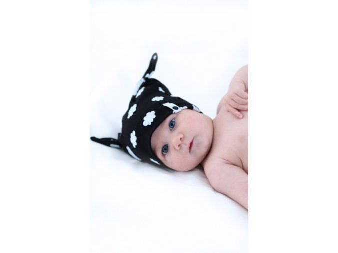 5807 50cnb1002 czapka new born fox nube black 2