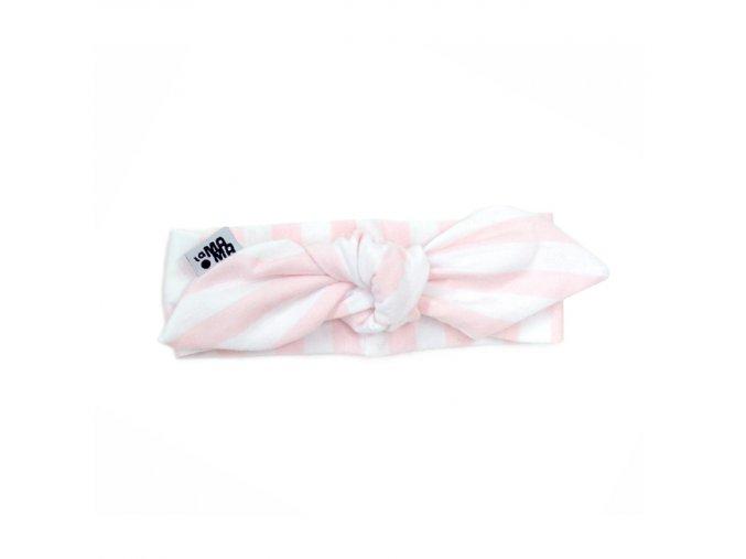 Nube Pin-up čelenka bavlněná - růžový proužek