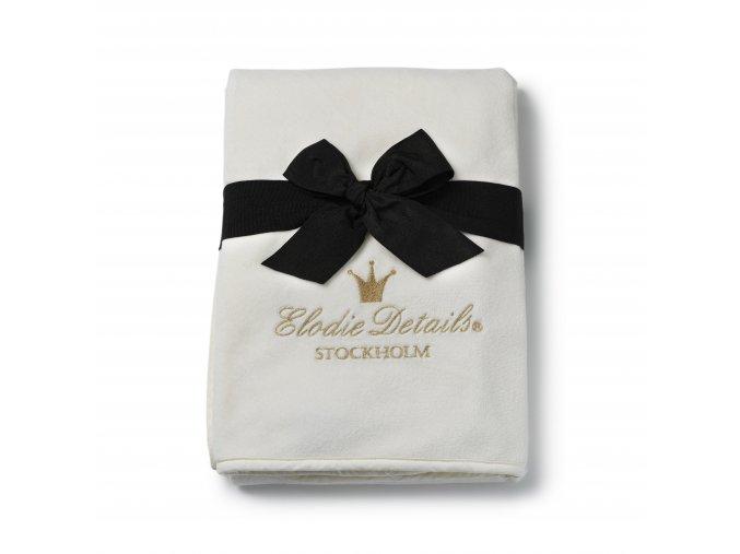 Perleťově sametová deka Elodie Details Vanilla White