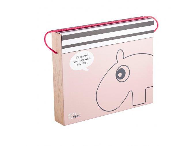 Úložný box na výkresy - růžový