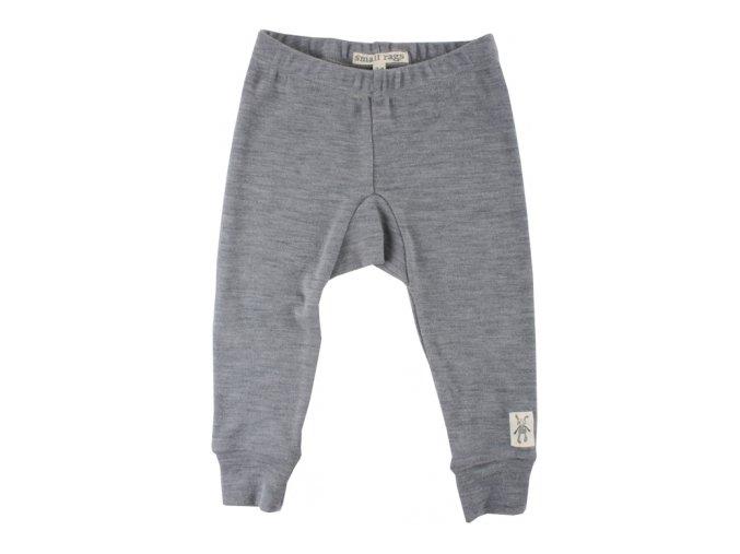 Vlněné kalhoty Small rags  - šedé melírované