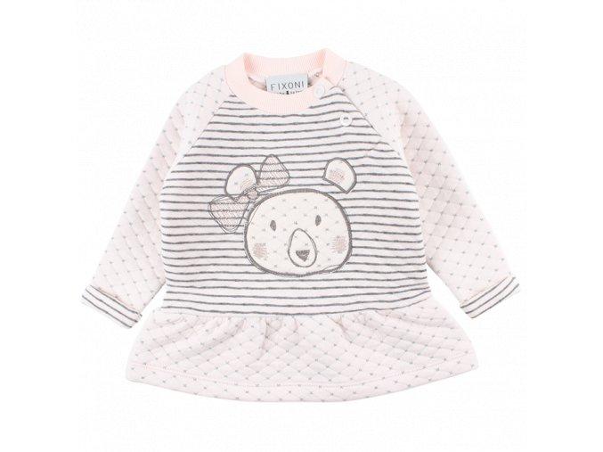 Bavlněné šaty/tunika Future - světle růžová