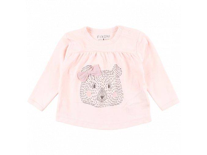 Bavlněné triko s dlouhým rukávem Future - světle růžové
