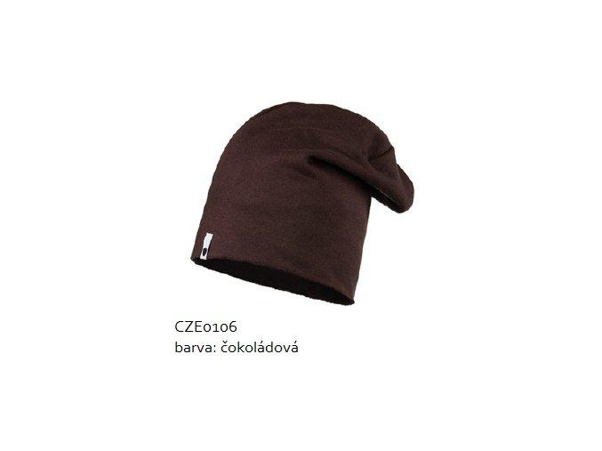Bavlněná čepice - čokoládová