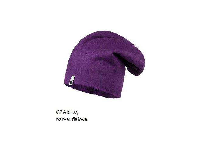 Bavlněná čepice - fialová