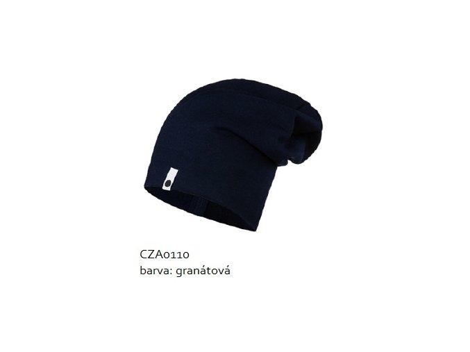 Bavlněná čepice - granátová