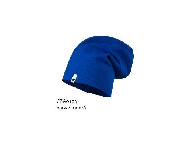 Bavlněná čepice - modrá