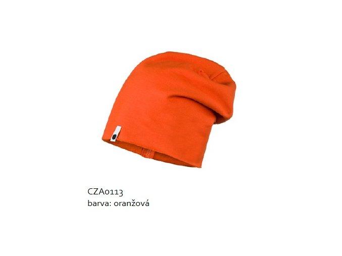 Bavlněná čepice - oranžová