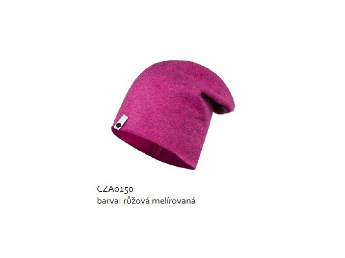 Bavlněná čepice - růžová melírovaná