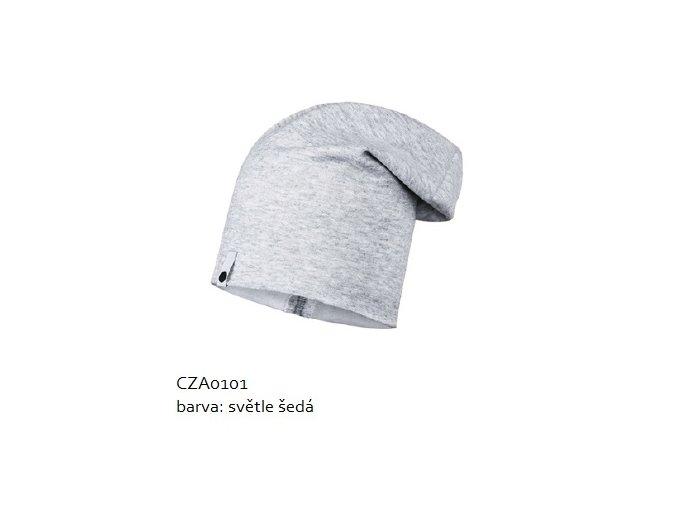 Bavlněná čepice - světle šedá melírovaná