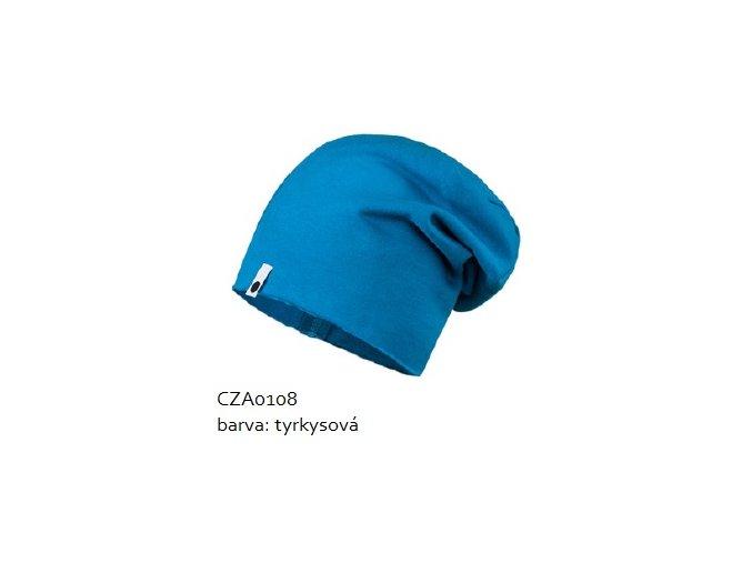 Bavlněná čepice - tyrkysová