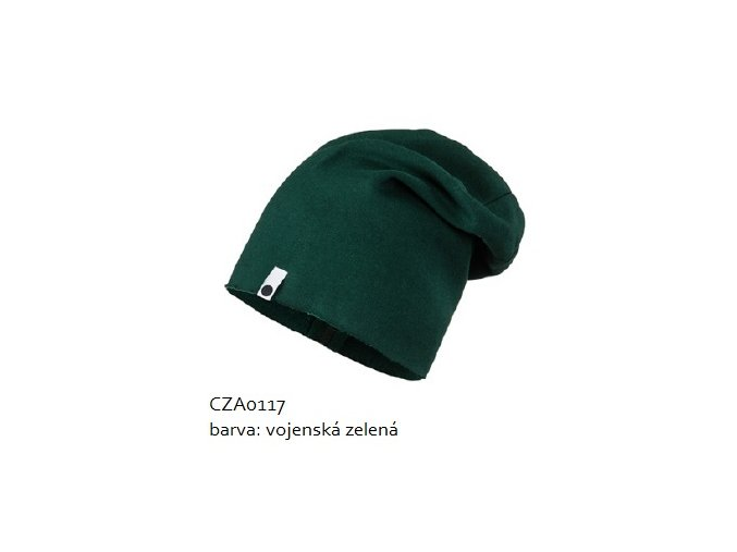Bavlněná čepice - vojenská zelená