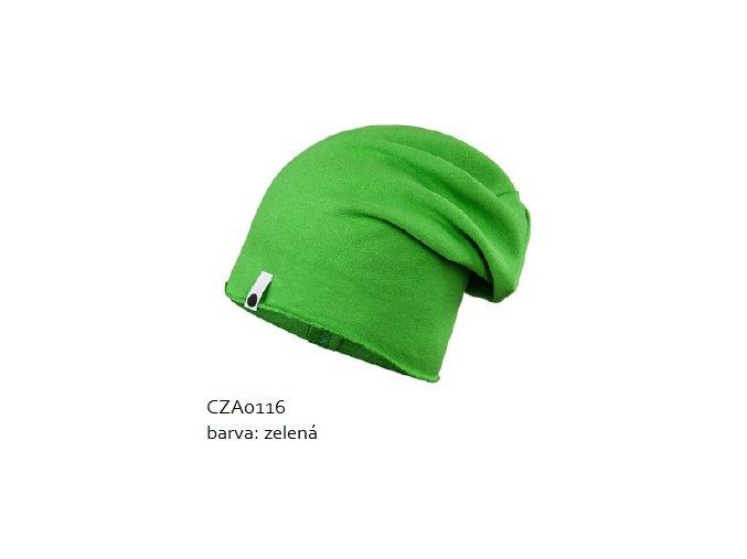 Bavlněná čepice - zelená