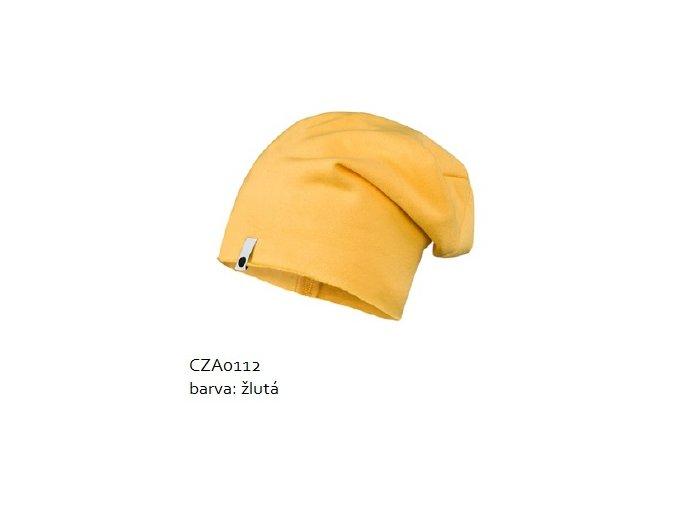 Bavlněná čepice - žlutá