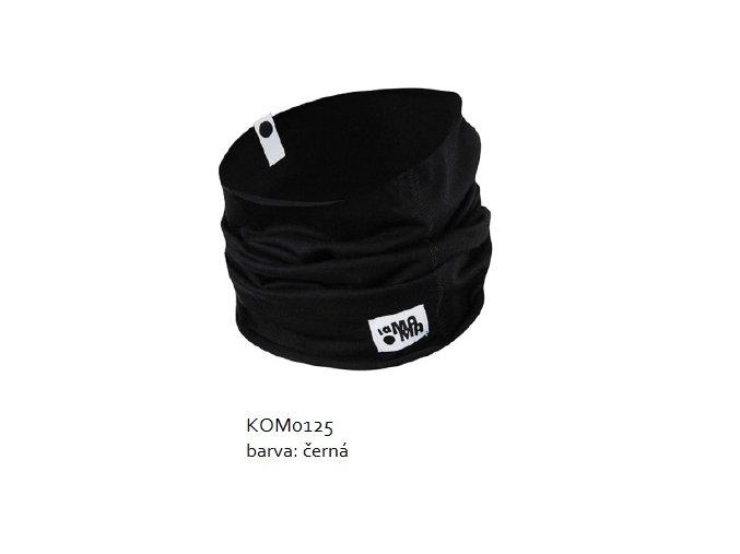 Komínkový šál - černý