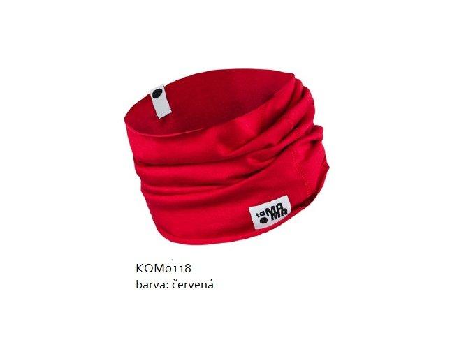 Komínkový šál - červený