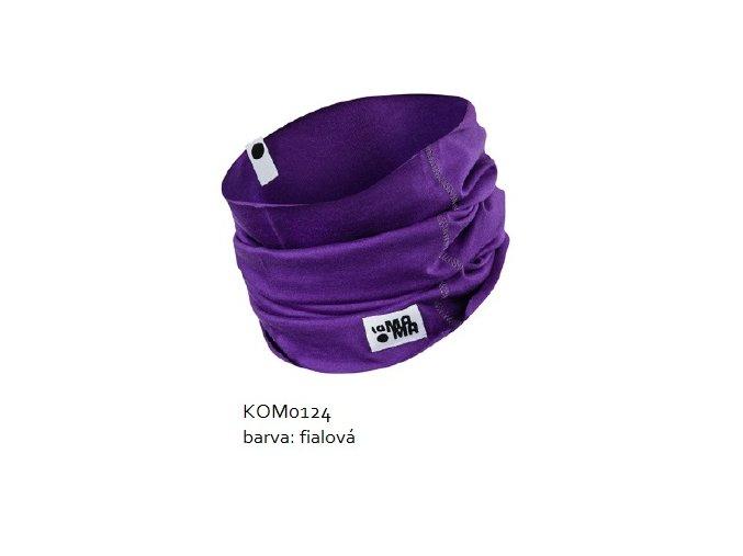 Komínkový šál - fialový