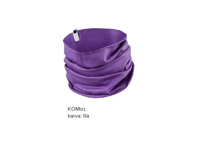Komínkový šál - lila
