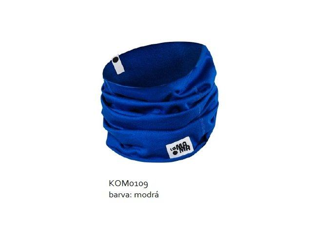 Komínkový šál - modrý