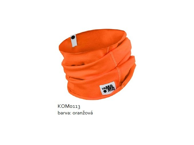 Komínkový šál - oranžový